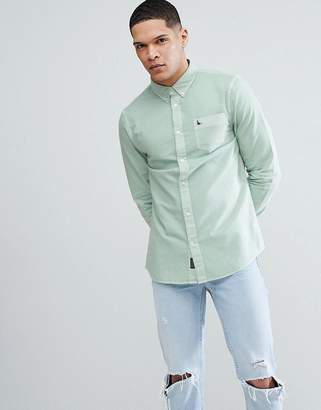 Jack Wills Atley Oxford Shirt In Green