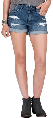 Volcom Distressed Denim Shorts $49.50 thestylecure.com
