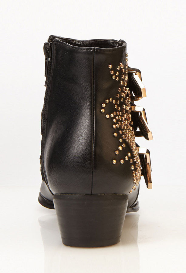 Forever 21 Buckled Ankle Boots