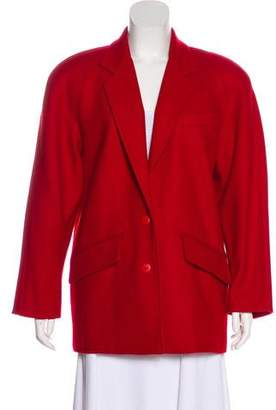 Neiman Marcus Wool-Blend Short Coat
