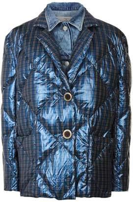 Natasha Zinko Check Puffer Jacket