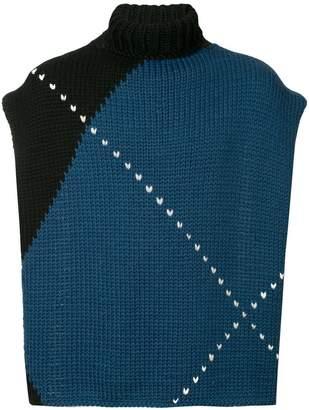 Raf Simons detachable scarf sweater