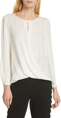 Rebecca Taylor Tailored by Silk Georgette Top