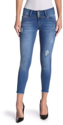 YMI Jeanswear Jeans WannaBettaButt 3-Button Frayed Hem Ankle Jeans