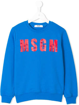 MSGM logo print sweater