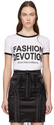 Dolce & Gabbana White Fashion Devotion T-Shirt