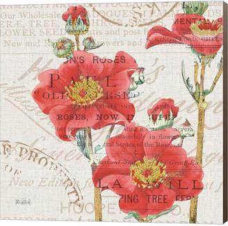 Metaverse Bookshelf Botanical V By Katie Pertiet Canvas Art