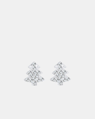 Swarovski Earring Christmas Tree Crystals 925 Silver