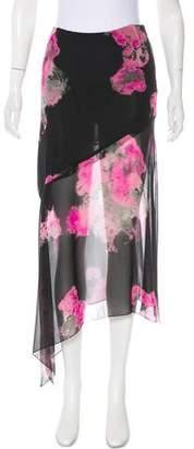 Mariella Burani Silk Printed Skirt