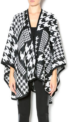 Paige Charlie Mixed Houndtooth Cape