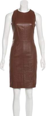 The Row Leather Sheath Dress