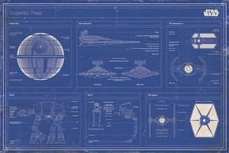 Star Wars Grindstore Laminated Film Imperial Fleet Blueprint Maxi Poster 91.5x61cm