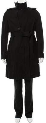 Rick Owens Asymmetrical Trench Coat