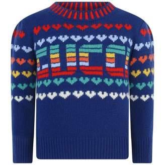 Gucci GUCCIGirls Blue Wool Knitted Jumper