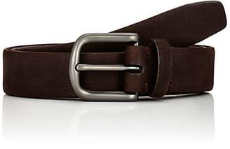 Barneys New York Men's Suede Belt - Dk. brown