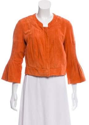 Diane von Furstenberg Cropped Suede Jacket