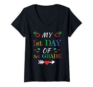 Womens Team 3d Third Grade Teacher Tribe Back To School TShirt V-Neck T-Shirt