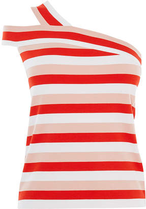 Karen Millen Striped One-Shoulder Top
