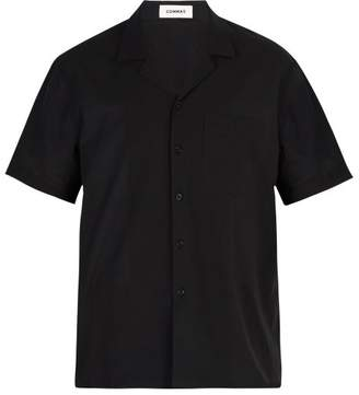 Commas - Cotton Camp Collar Shirt - Mens - Black