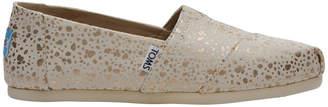 Toms Alpargata 10010801 Gold Foil Snow Spots Sneaker