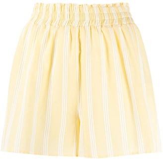Roberto Collina high-waisted striped shorts