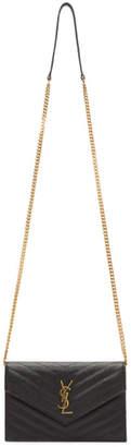 Saint Laurent Black Envelope Chain Bag
