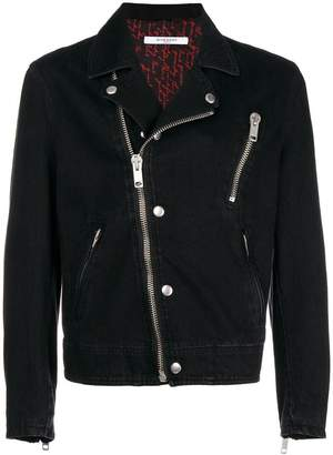 Givenchy off-centre zipped jacket
