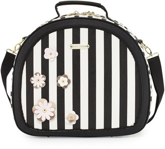 Betsey Johnson Hat Box Round Weekender Bag, Black/Multi $120 thestylecure.com