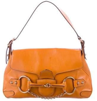 Gucci Leather Horsebit Hobo Orange Leather Horsebit Hobo