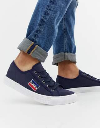 Levi's malibu sportswear canvas trainers navy
