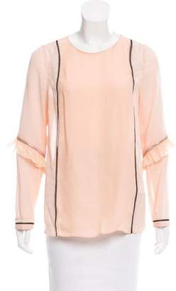 3.1 Phillip Lim Zip-Accented Long Sleeve Blouse