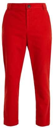 Vivienne Westwood Straight Leg Brushed Cotton Trousers - Womens - Orange