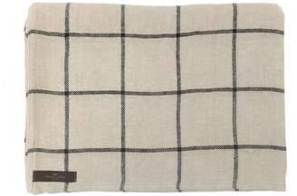 True Linen Linen Check Throw Jonas