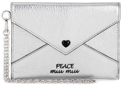 Miu MiuMiu Miu Embellished leather wallet
