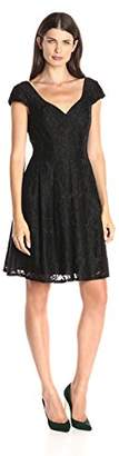 Adrianna Papell Women's Seamed Juliet Lace Fit Flare