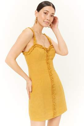 Forever 21 Ruffle Trim Mini Dress