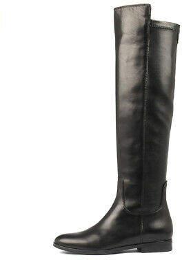 Django & Juliette New 45807 Fy Black Leather Womens Shoes Casual Boots Long
