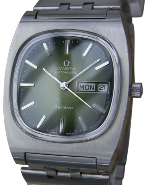 Omega Omega Geneve Stainless Steel Automatic Vintage 36mm Mens Watch