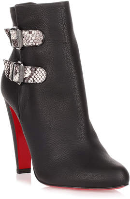 Christian Louboutin Cavalitta 100 black leather bootie