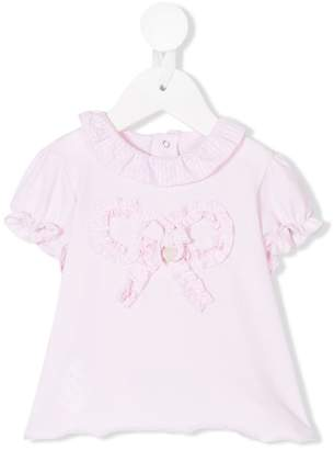 Le Bebé Enfant bow ribbon detail T-shirt
