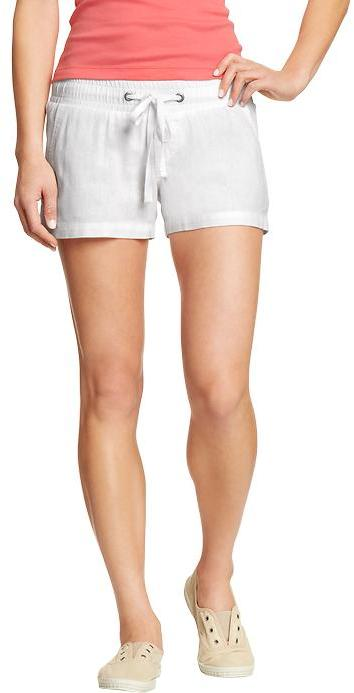 "Old Navy Women's Linen-Blend Drawstring Shorts (3-1/2"")"