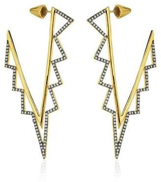 Noir Earrings Opal Tone & 14kt Gold Plating