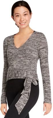 Danskin Womens' Long Sleeve Wrap Top