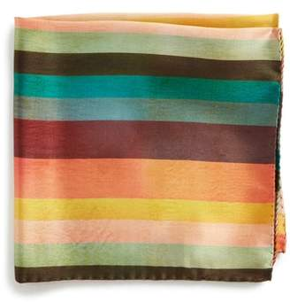 Paul Smith Artist Stripe Silk Pocket Square