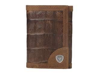Ariat Shield Croco Tri-Fold Wallet