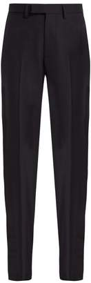 Raf Simons Slim Fit Wool Trousers - Womens - Dark Navy