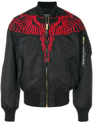 Marcelo Burlon County of Milan embroidered wing bomber jacket
