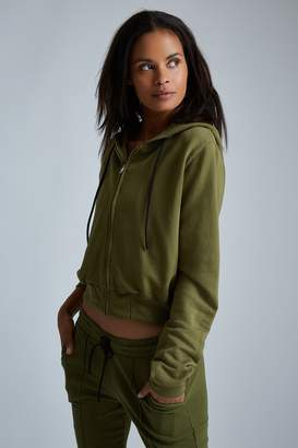 Cotton Citizen The Milan Cropped Zip Hoodie