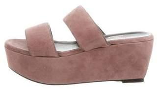 Robert Clergerie Suede Platform Sandals w/ Tags