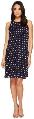 Lauren Ralph Lauren Geminah Classy Dot Georgette Dress Women's Dress